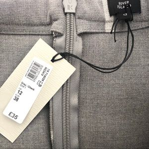 020272f1e3 River Island Skirts - River Island Grey Wise Check Bow Pencil Skirt